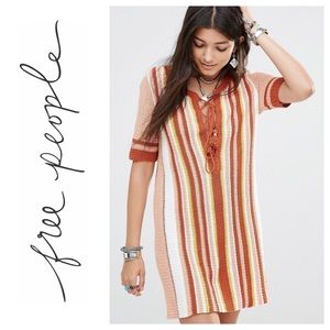 Free People Sunset stripe lollipop sweater dress